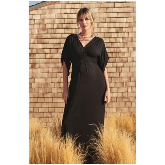 dfbd9023a4c71 Ingrid & Isabel Dresses & Skirts - ISABEL Maternity Black Kimono Maxi Dress  ...